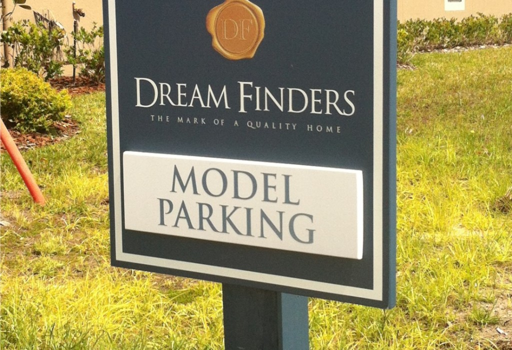 Builder Model Parking Signs - Dreamfinders Custom Homes