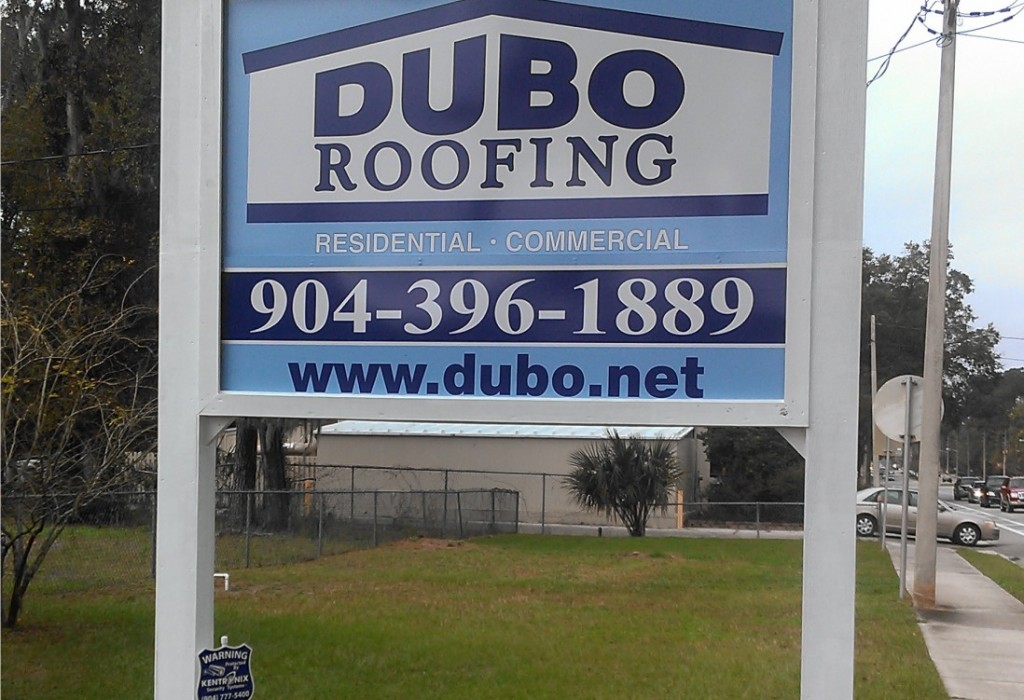 Post Sign - Dubo Roofing