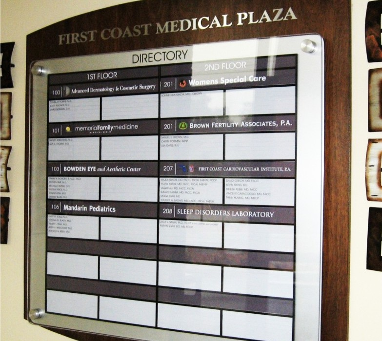 Directory Signs I Wayfinding I Healthcare