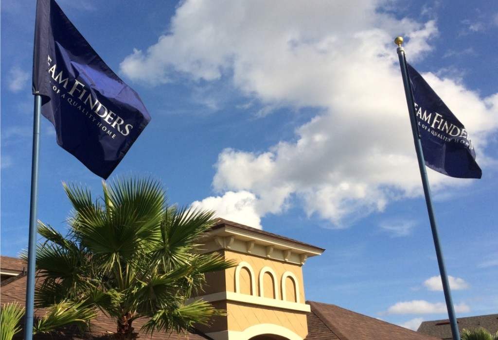 Screen Printed Flags - Dreamfinders Custom Homes Jacksonville Florida