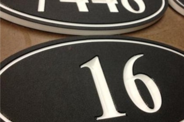 CNC Routed Address Signs - Various Builders