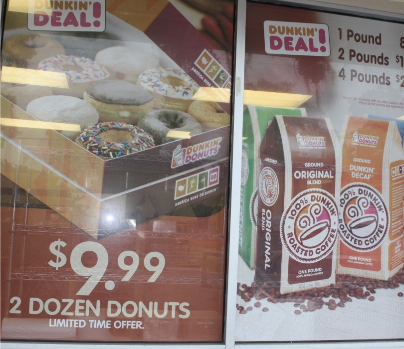 Retail Window Graphics - Dunkin Donuts