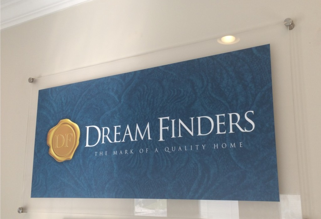 Wall Display - Acrylic - Dreamfinders Homes Jacksonville