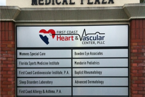 Retrofitted Monument Sign - First Coast Medical Plaza