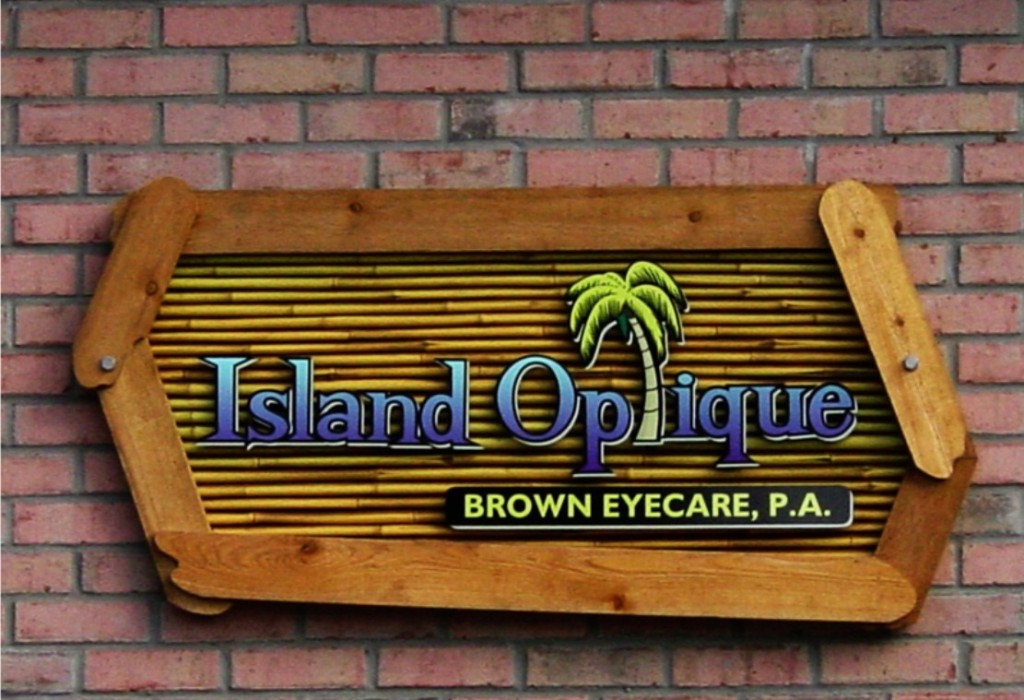 Dimensional Layered Wall Sign - Island Optique