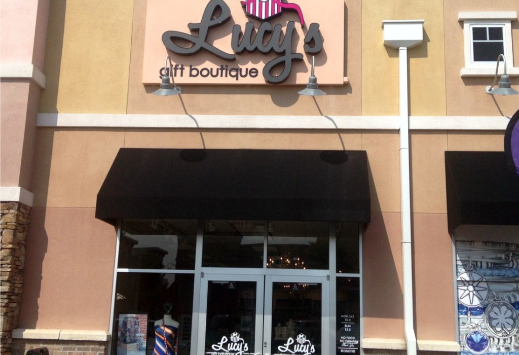 LED Channel Letters - Lucy's Gift Boutique