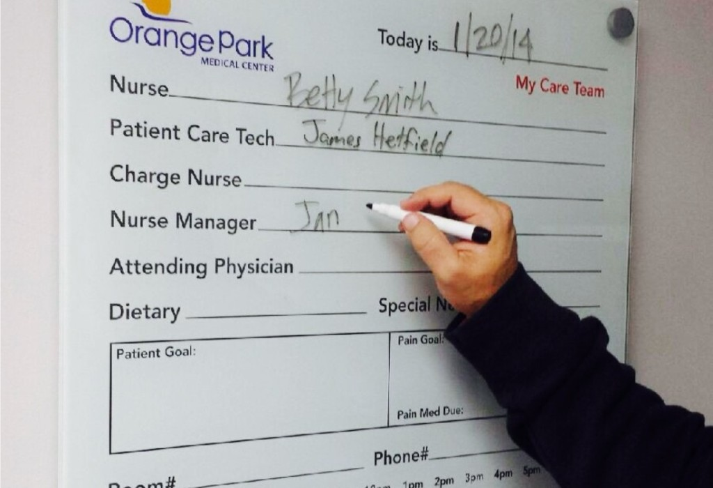 Glass Whiteboard - Orange Park Medical Center